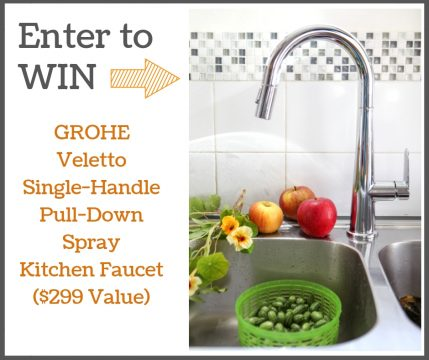 Win a Grohe Veletto Single-Handle Pull-Down Spray Kitchen Faucet!