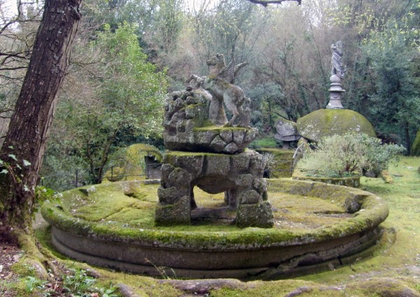 Pegasus sculpture at Bomarzo.