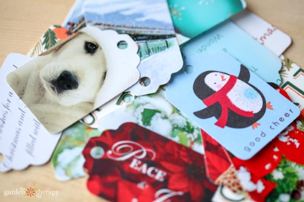 Christmas Card Recycling Idea