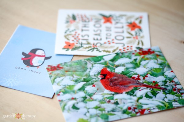 Christmas Card Recycling Project