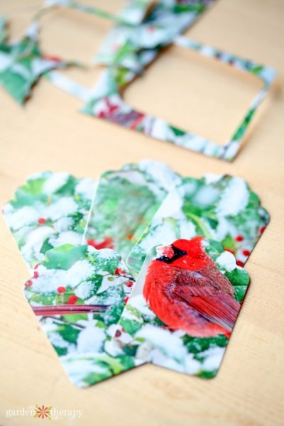 Making Gift Tags from Old Christmas Cards