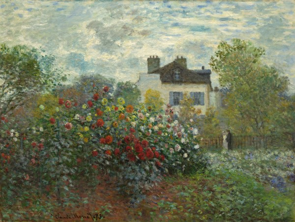 Claude Monet (French, 1840 - 1926 ), The Artist's Garden in Argenteuil (A Corner of the Garden with Dahlias), 1873