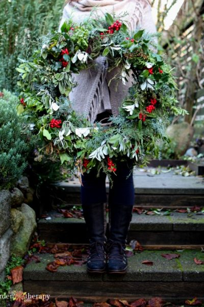 Garden Therapy 2018 Natural Christmas Wreath