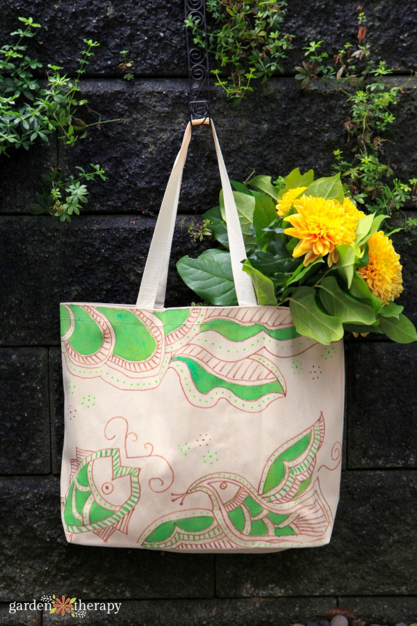 Hand Painted Reusable Grocery Bag