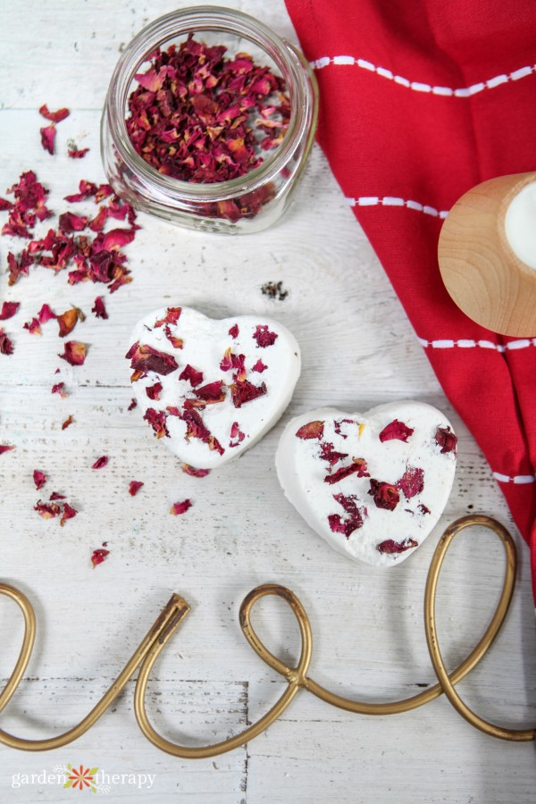 Heart-Shaped Rose Petal Bath Bombs