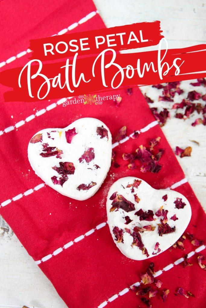 Heart Shaped Rose Petal Bath Bombs