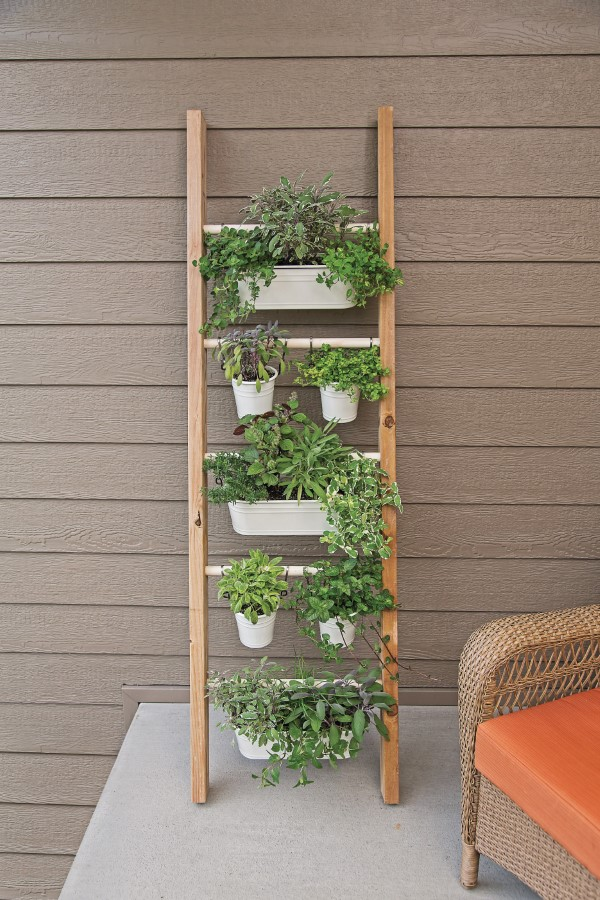 DIY Ladder Planter Vertical Herb garden
