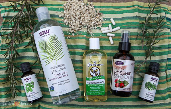 Rosemary Peppermint Conditioner Recipe. ingredients