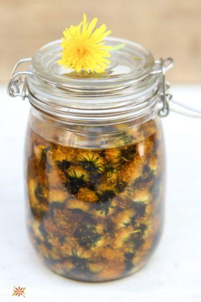 Cold Infused Dandelion Flower Herbal Oil