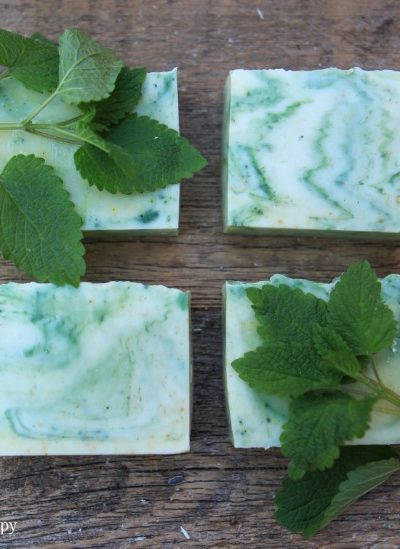 Natural Color Lemon Balm Soap