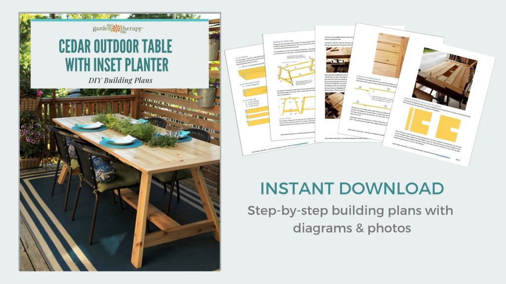 Cedar Outdoor Table Building Plans Download