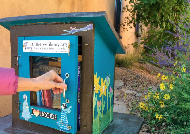 Painted Little Free Library