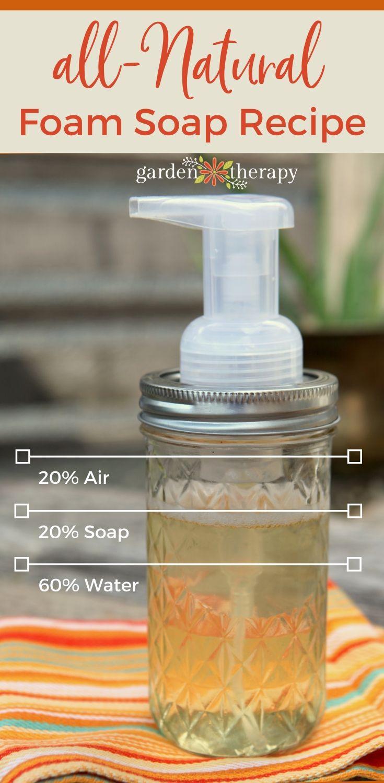 All Natural Foam Soap Recipe Formula