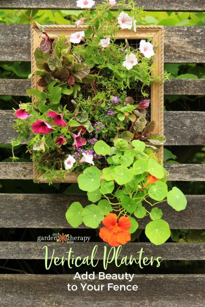 DIY Vertical Planters in Frames to add art to a fence (1)