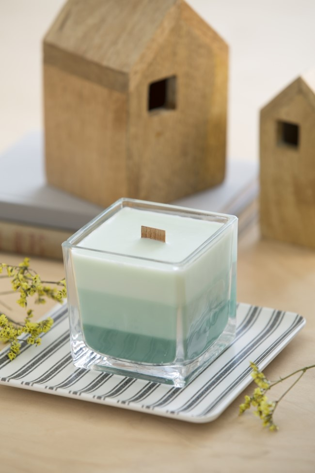 Home Candle Making Ombre Wood Wick Candle