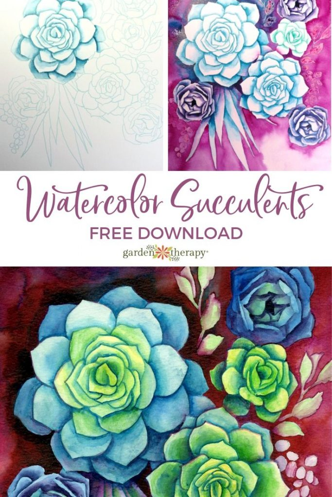 Succulent Watercolor Printable