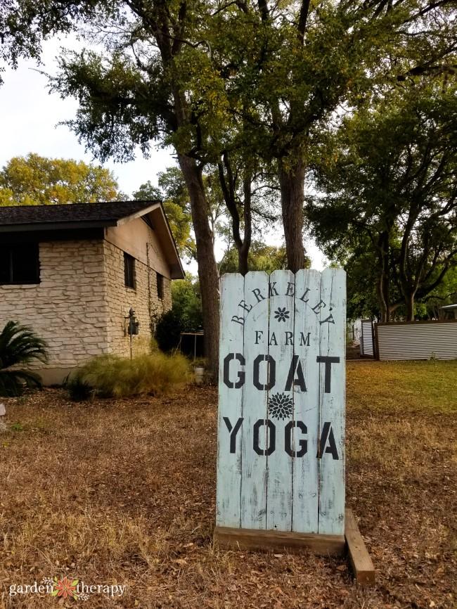 Berkeley Farm Goat Yoga Sign