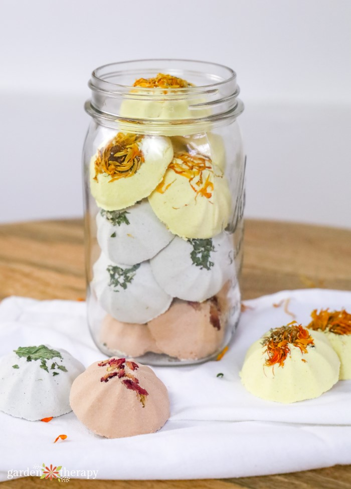 Aromatherapy Shower Steamers in a jar