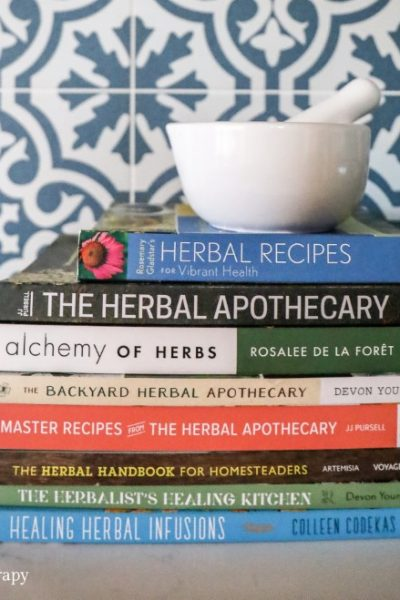Stack of Herbalist Books