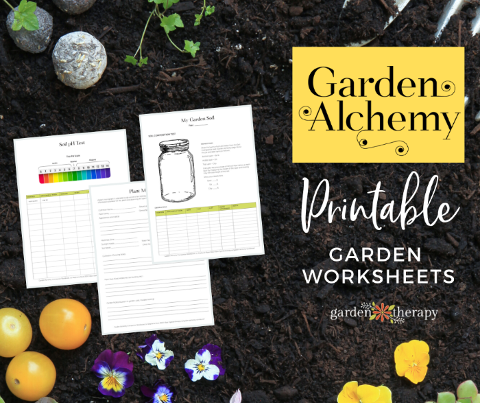 Garden Alchemy Workbook Pages Social Media