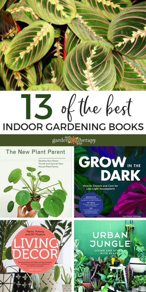collage of the best indoor plant books