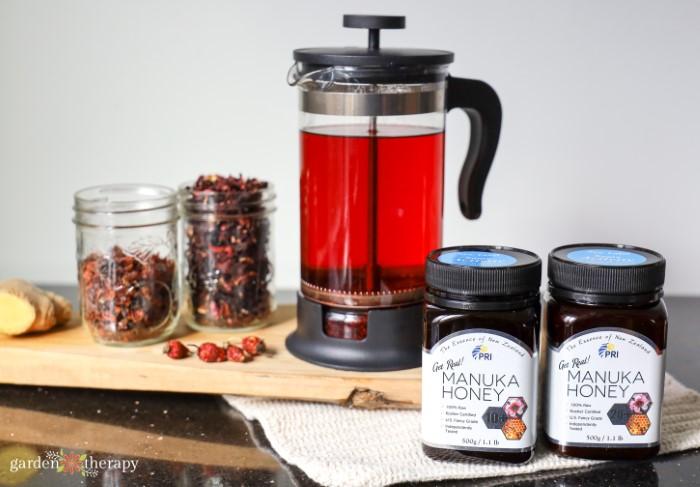 ingredients for DIY Manuka honey lozenges