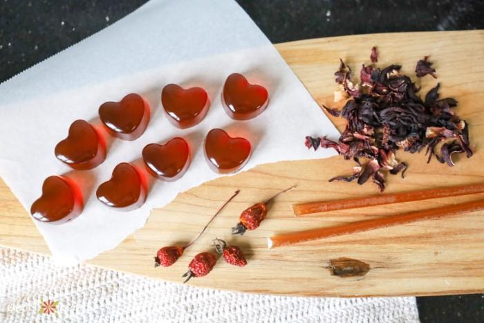heart shaped manuka honey lozenges