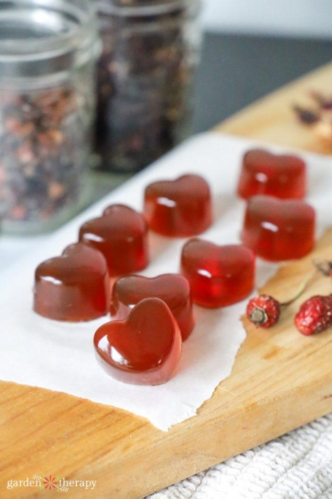 heart shaped gummy manuka honey lozenges