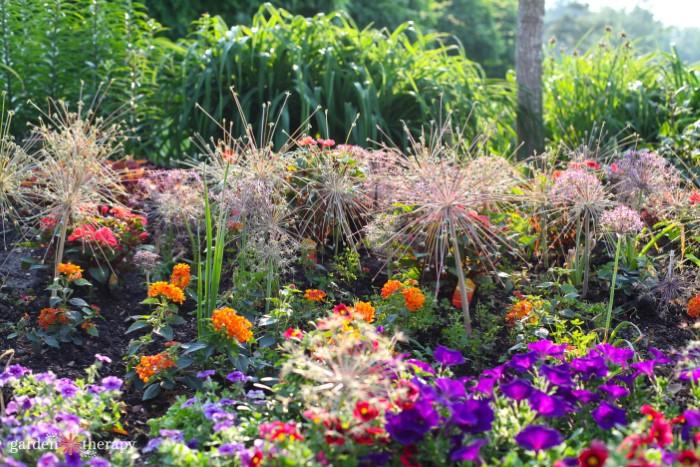 Gorgeous mixed flower border