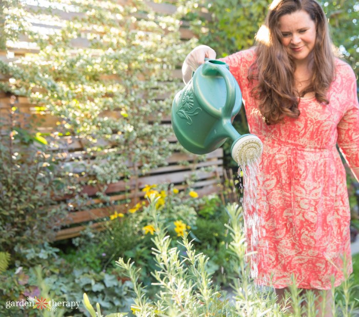 Stephanie Rose Garden Therapy watering garden
