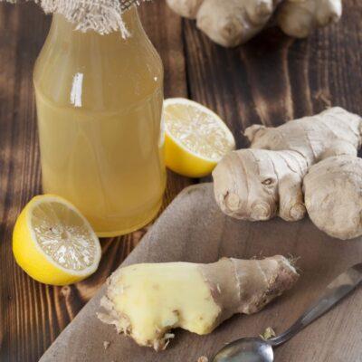 Homemade Ginger Ale Syrup + Ginger Mint Lemonade Recipe