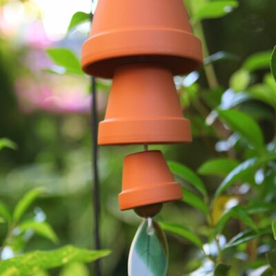 DIY Wind Chimes Made with Clay Terracotta Pots