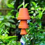 hanging terracotta pot wind chime