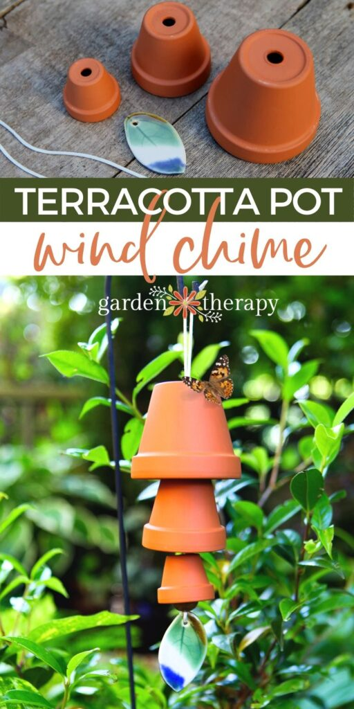 terracotta pots and assembled terracotta pot wind chime