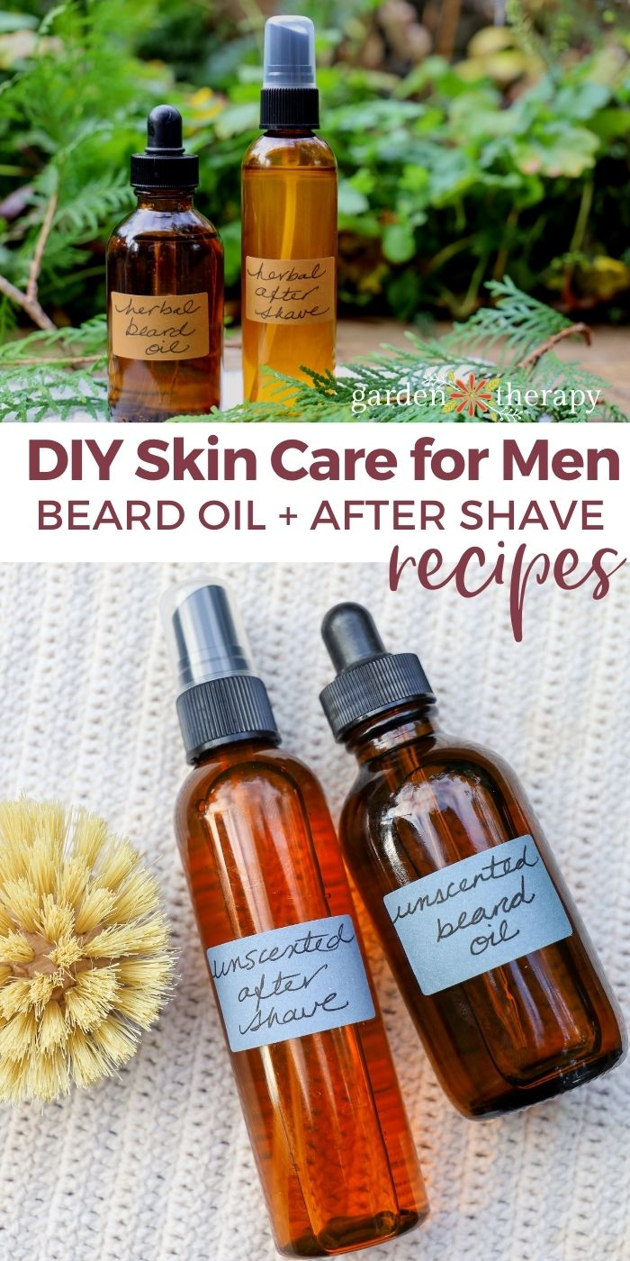 DIY beard soil and aftershave spray