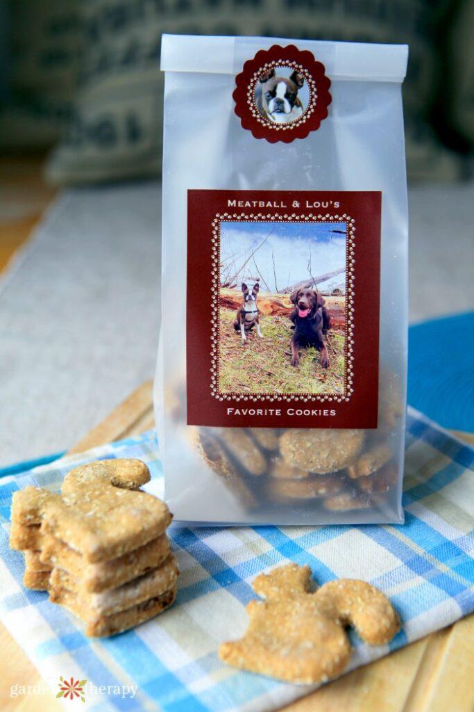 Homemade dog cookies for christmas gifts