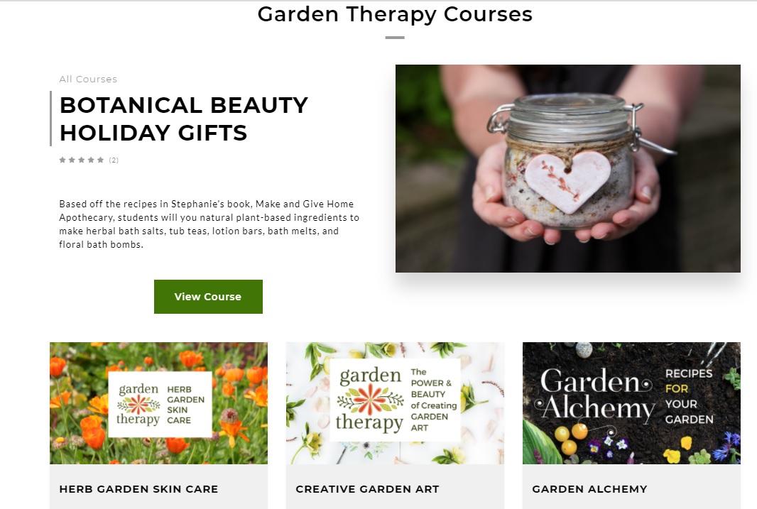Garden Therapy Courses