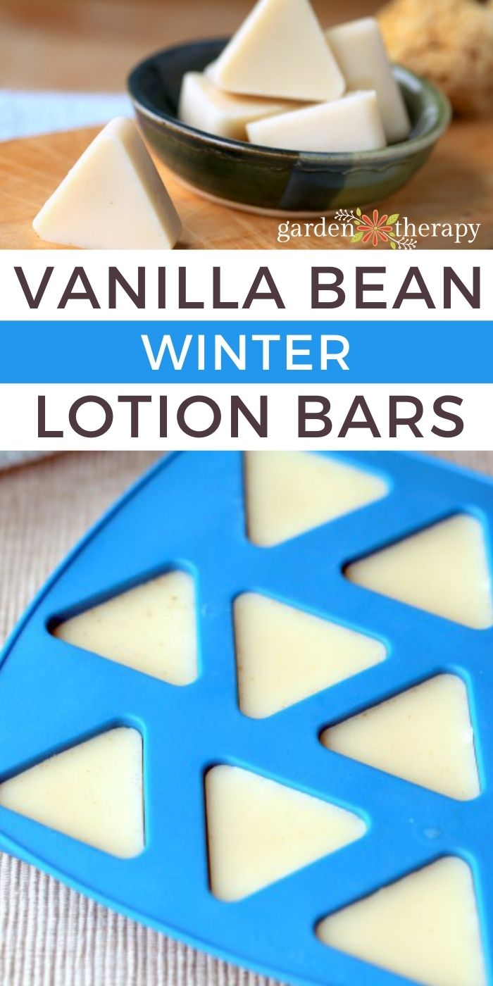 DIY Vanilla bean lotion bars for the winter