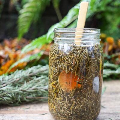 Herbal Apple Cider Vinegar Hair Rinse for Healthy Hair (with Video)