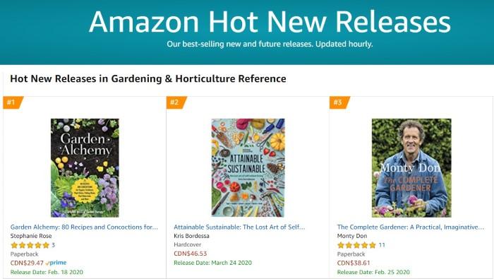 Amazon 1 New Release Gardening