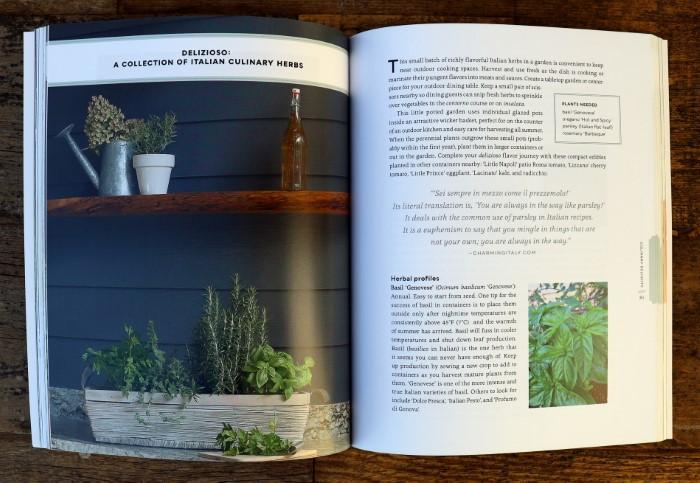 Container Herb Garden Book Interior