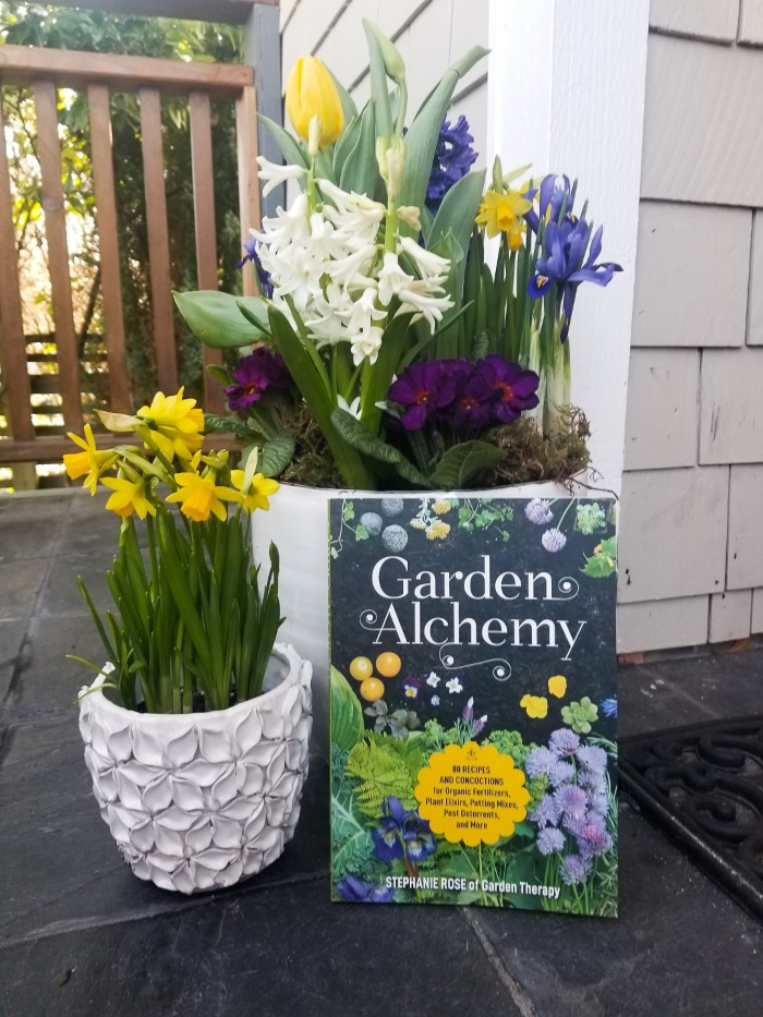 Garden Alchemy with flowers in containers
