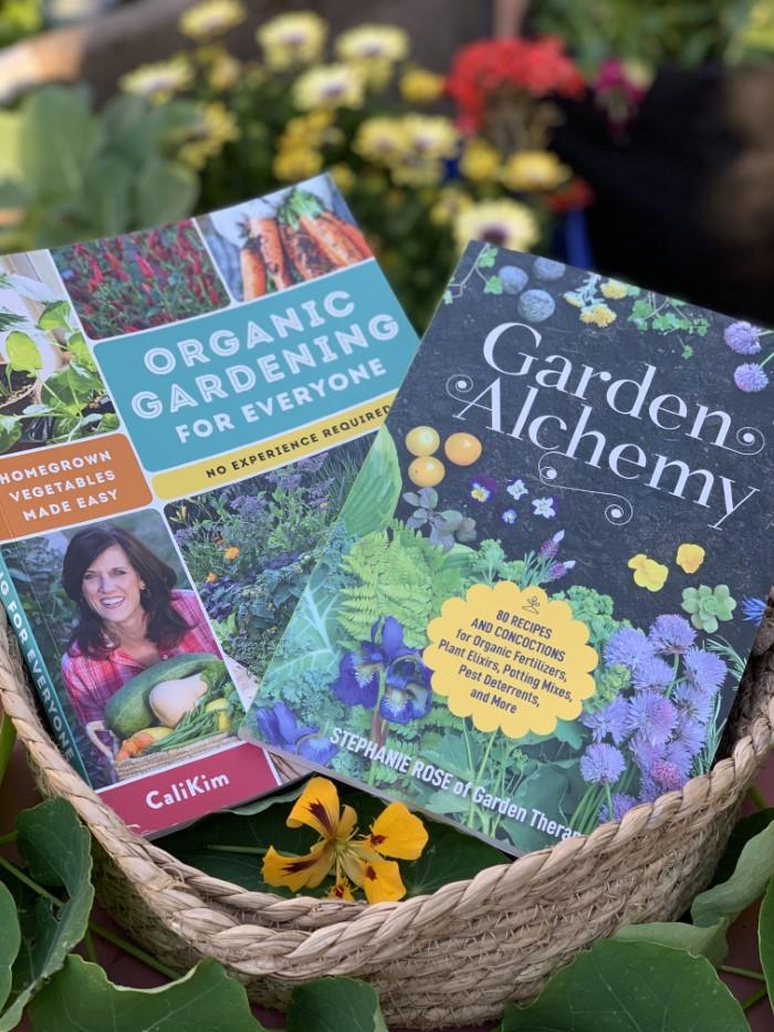 Organic Gardening for Everyone and Garden Alchemy books