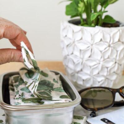 Homemade Disinfectant Wipes for the Smart Traveler