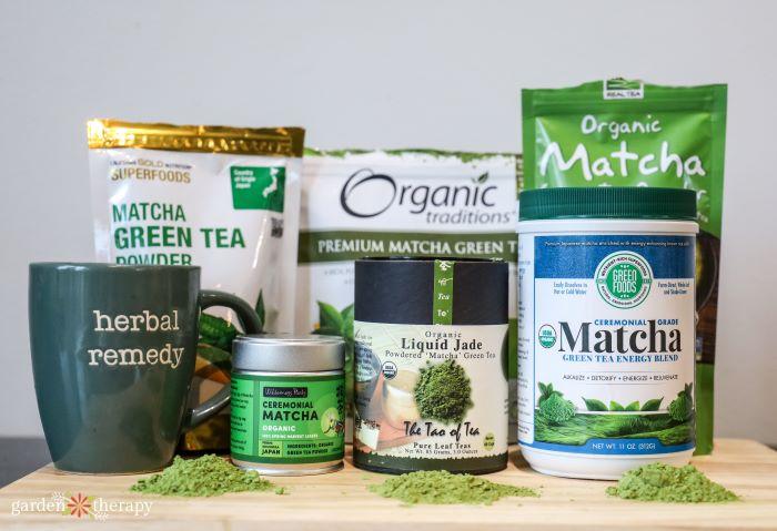 iHerb matcha green tea powders
