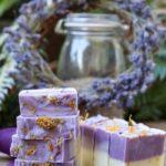 deodorizing soap with lemongrass, lavender, and calendula petals