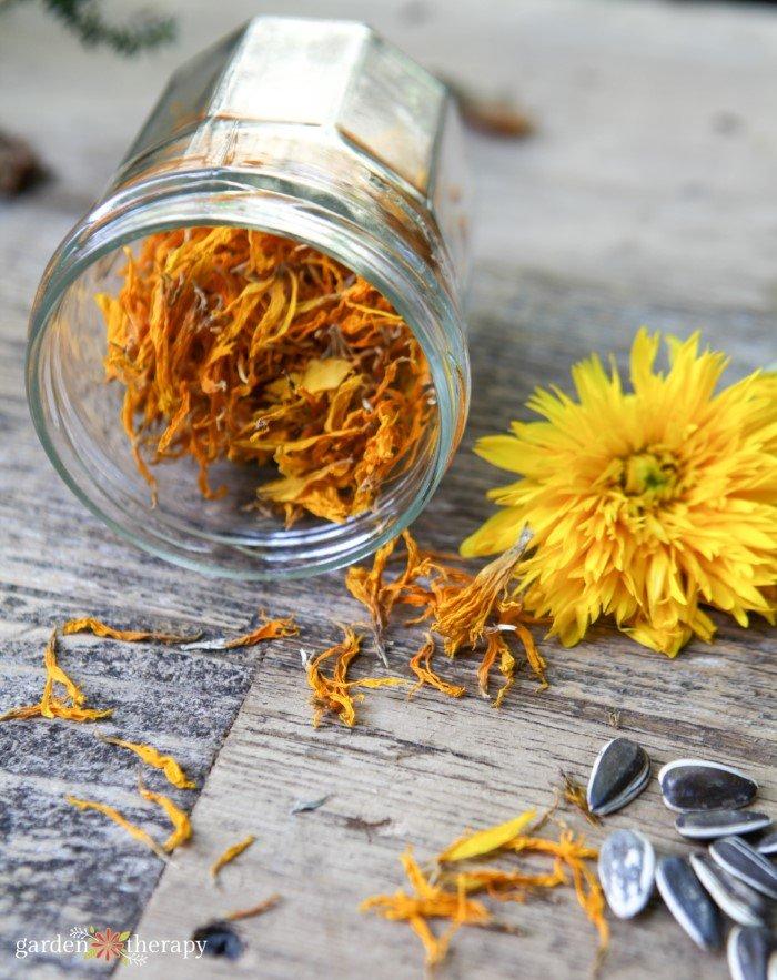 calendula and sunflower soap