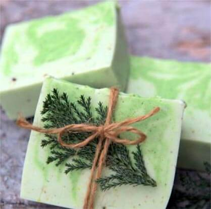 handmade soap pine