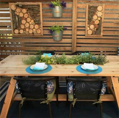picnic table dining