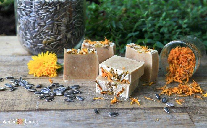 sunflower turmeric soap recipe